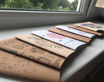 Little funny sketchbooks.