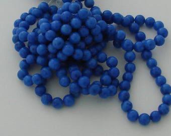 10 pearls 8mm blue jade