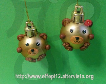 Balls to decorate the Christmas tree with bears