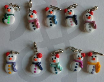 Christmas charms for bracelets or necklaces Fimo