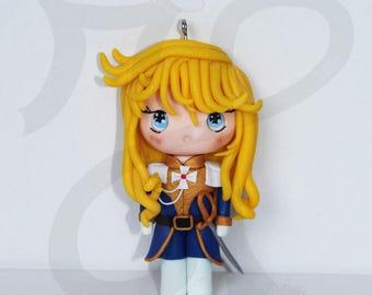 Japanese doll Necklace (Chibi): Lady Oscar