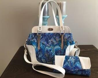 Custom Aster Handbag (pattern by BlueCalla) and Necessary Clutch Walket pattern by Emmaline Bags)