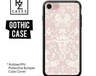 Gothic Phone Case, Vintage Phone Case, Victorian Case, Vintage, iPhone 7 Case, iPhone 6s Case, iPhone 5 Case, Rubber, Bumper Case