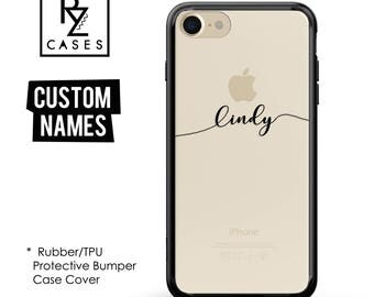 Custom Phone Case, Personalized Case, iPhone 7 Case, iphone 6, Personalized Gift for Her, Custom Name, iPhone 6s, Silicone Rubber, Bumper