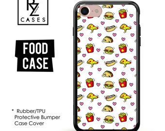 Food Phone Case, Chips Phone Case, Fast Food Phone Case, Hamburger Case, iPhone 7, Gift for Her, iPhone 7 Plus, iPhone 6S, Rubber, Bumper