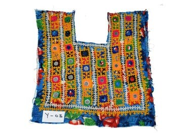 Indian Vintage Patch Embroidery Applique kutch patch old handmade Fabric