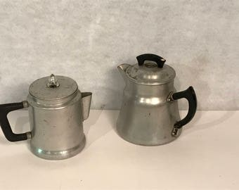 Two Vintage Wear-Ever Pitchers, Aluminum made in USA