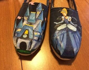 Cinderella Painted Toms