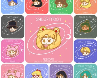 Sailor Moon & Sailor Senshi Enamel Pin - Pre-order