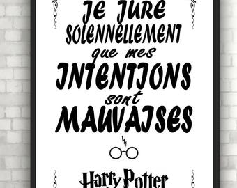 "poster design ""Harry Potter"" with or without frame"