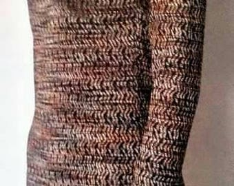 Elastic dress with sleeves