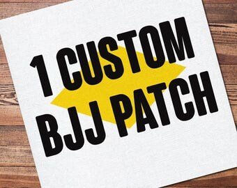"1 Custom Full Color Brazilian Jiu Jitsu Patch for your Gi Kimono Uniform BJJ, Grappling, Martial Arts and MMA 12"" x 12"""