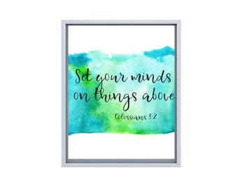 Scripture Quotes Watercolor 8x10 Prints, Set of SIX Instant Download, Printable Decor Bundle, Christian Art, 8x10 Digital Prints