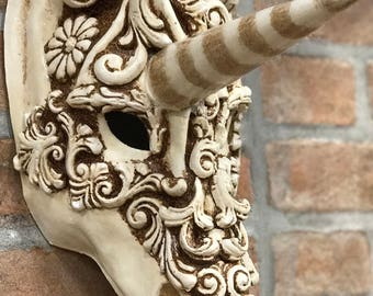 Venetian Unicorn Mask Baroque