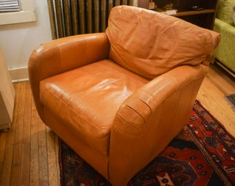 Vintage Deco Leather Club Chair