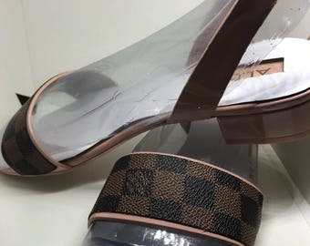Auth Louis Vuitton upcycled sandals