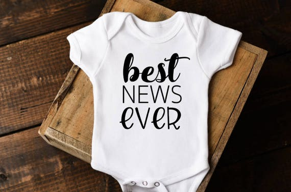 Best News Ever Onesie 174 Baby Announcement Onesie Baby