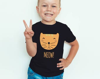 Kitty Meow Tshirt Kids Toddler shirt Graphic tee kitty cat Kids clothes infant shirt cat shirt-Girls clothes cute graphic tshirt animal farm
