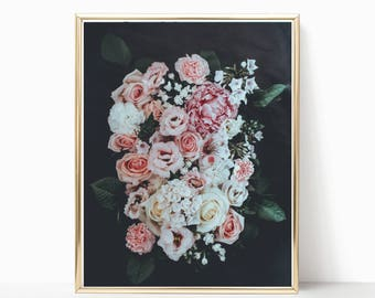 Flower Print, Floral Art, Boho Print, Bohemian Art, Digital Print, Instant Download, Flower Art