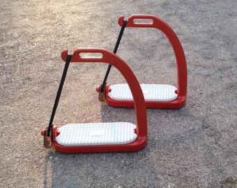 Custom Peacok Safety Stirrups