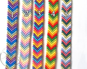 Choose Your Friendship Bracelet, Chevron Pattern