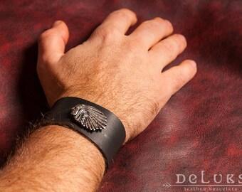 stainless steel rivetsLeather Bracelet ,indian leather bracelet,100% cow leather,,stainless rivets,deluxe leather bracelet