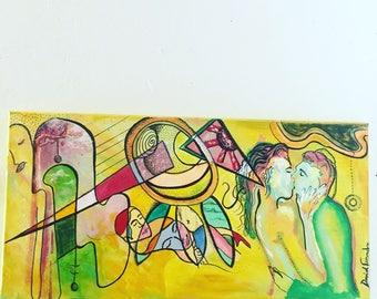 Original LOVERS Painting by David Fernandez