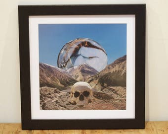 Death Valley - Digital Collage Art Print Poster