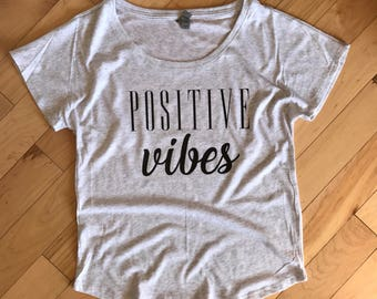 Positive Vibes Womens Graphic Tee