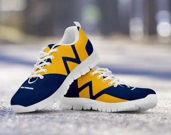 West Virginia Mountaineers Football Fan Custom Running Shoes/Sneakers/Trainers - Ladies + Mens Sizes