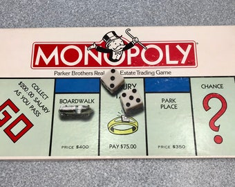 Vintage 1985 Monopoly Game from Parker Brothers