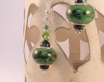 """Jewelry Silver earrings """"foliage"""""""