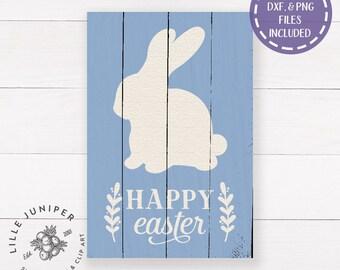 Easter Bunny svg, Happy Easter svg, Easter Sign svg, Easter svg, Farmhouse Easter Sign svg, Wood Sign svg, Rabbit svg, Commercial Use