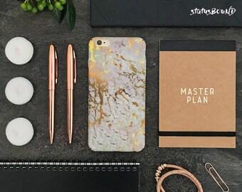 Marble iPhone Case iPhone X Case iPhone 8 Case iPhone 8 Plus Case iPhone 7 Case iPhone 7 Plus Case iPhone 6S Case 6S Plus Case White Gold