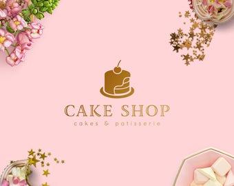 Logo design/ business logo/ cake logo/ cupcake logo/ custom design/ gold logo/ watermark logo/ premade logo/ bakery logo/ baking logo