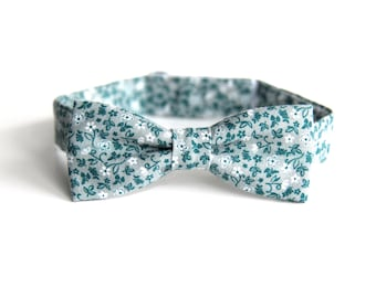boys bow tie, kids bow tie, toddler bow tie, floral bow tie, bow tie for toddlers