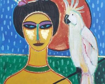 Painting. Acrylic on canvas. Rising Sun. Cobra Art Treasures.