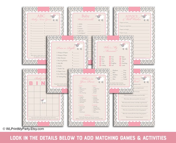 Little Lamb Theme Baby Shower Games For Girls Baby Shower Activities