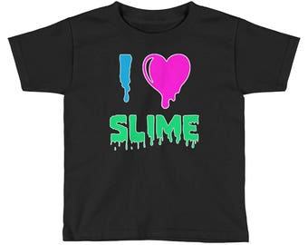 I LOVE SLIME Kids Short Sleeve T-Shirt , slime shirt, slime gifts,  Slime fluffy, slime gift, slime art, slim shop, butter slime, cute slime