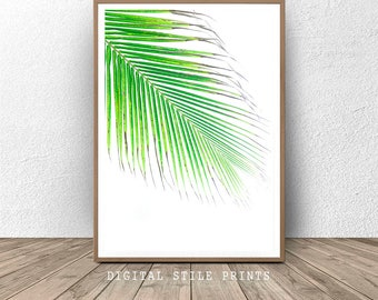 Palm Leaf, Jungle Wall Art, Printable Art, Art Print Download, Palm Art Print, Leaf Digital Print, Wall Art, Leaf Poster, Home decor,