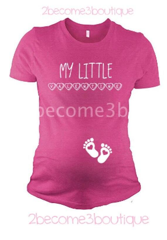 My Little Valentine Maternity Shirt Valentines Day