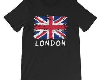 Love London Union Jack British Pride Short-Sleeve Unisex T-Shirt