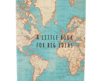 World map journal etsy pocket notebook world map a little book for big ideas great gift for sciox Gallery