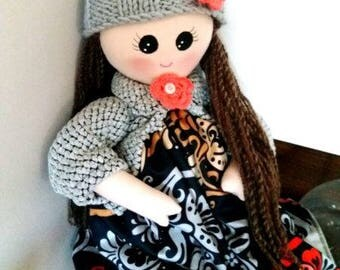 Knitted baby.Waldorf doll , organic doll, Waldorf doll for 2018, natural fiber art doll,handmade Waldorf doll, organic Waldorf doll