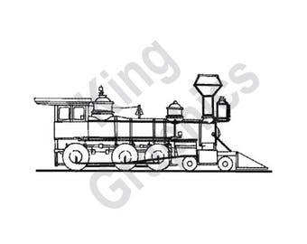 Train - Machine Embroidery Design