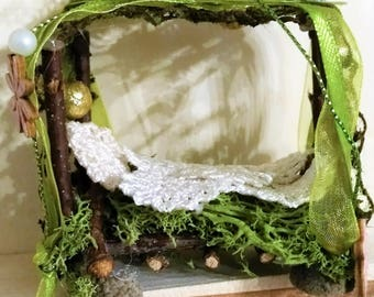 Elf canopy bed, miniature