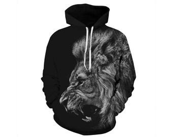Lion Hoodie, Lion, Lion Hoodies, Animal Prints, Animal Hoodie, Animal Hoodies, Lions, Hoodie Lion, Hoodie, 3d Hoodie, 3d Hoodies - Style 34