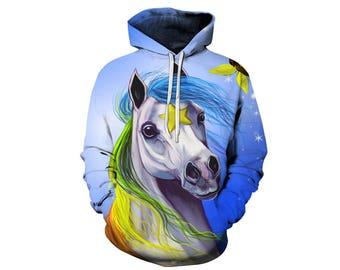 Unicorn Hoodie, Unicorn, Unicorn Hoodies, Animal Prints, Animal Hoodie, Animal Hoodies, Unicorns, Hoodie, 3d Hoodie, 3d Hoodies - Style 2