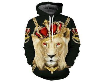 Lion Hoodie, Lion, Lion Hoodies, Animal Prints, Animal Hoodie, Animal Hoodies, Lions, Hoodie Lion, Hoodie, 3d Hoodie, 3d Hoodies - Style 38