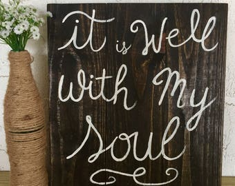 It is well with my soul wood sign, Rustic Pallet wood sign